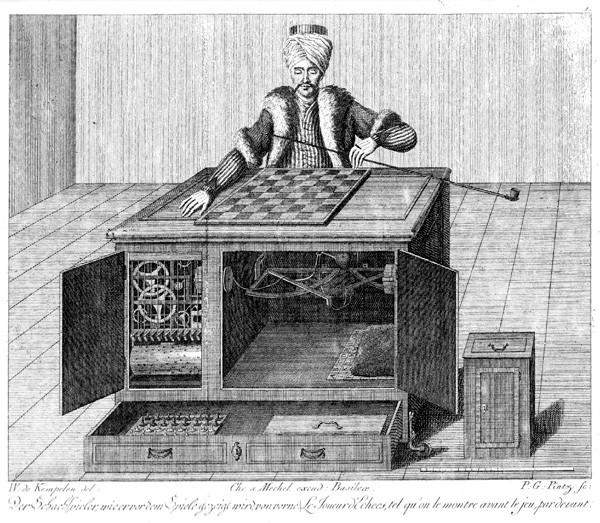 Namnet Mechanical Turk är inspirerat av en automatisk schackspelande maskin som i själva verket styrdes av en person som satt inuti.