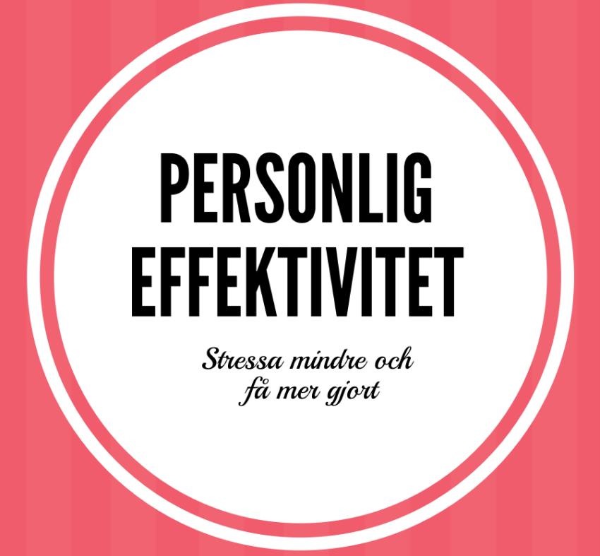 Principer för personlig effektivtet