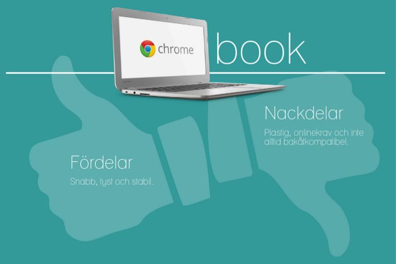 Fördelar och nackdelar med Chromebook